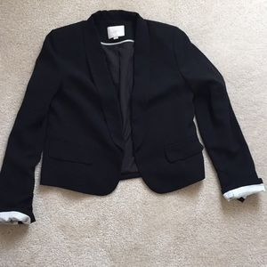 Loft cropped machine washable tuxedo bolero